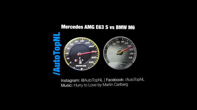 Mercedes E63 AMG 2017 vs BMW M6 2017.mp4