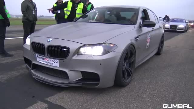 840HP BMW M5 F10 vs 980HP Audi RS6 Avant vs 750HP Nissan GT-R R35.mp4