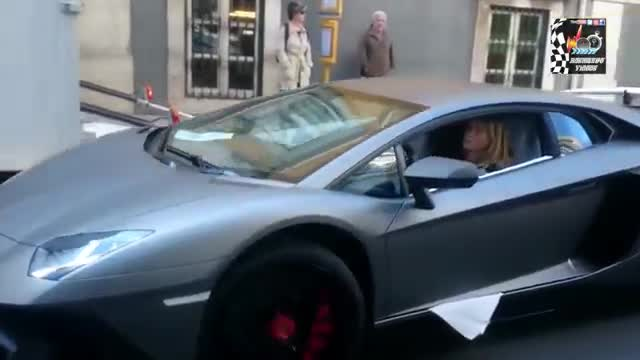 Girl Driving Skills - Lamborghini Aventador vs Truck TIR !!!.mp4