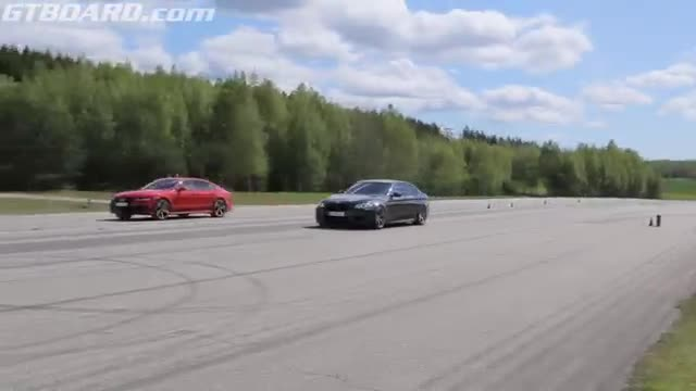 Audi RS7 (stock) vs tuned BMW M5 F10.mp4